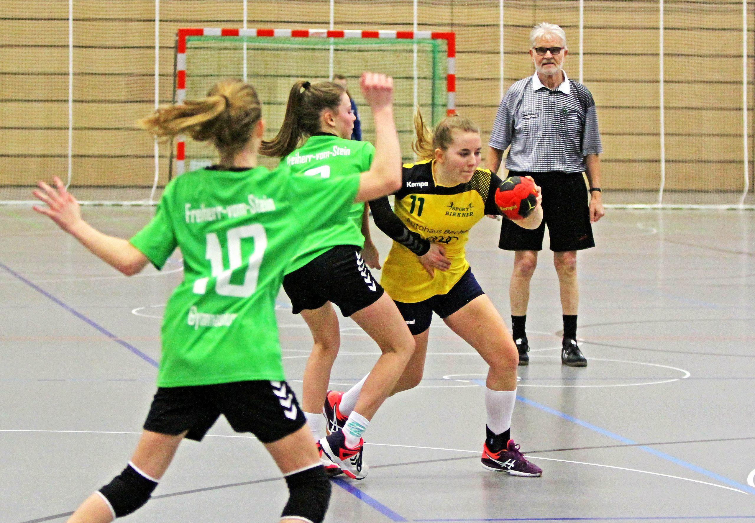 Schluss mit Lustig - Handballmädchen WK 3 unterliegen 12