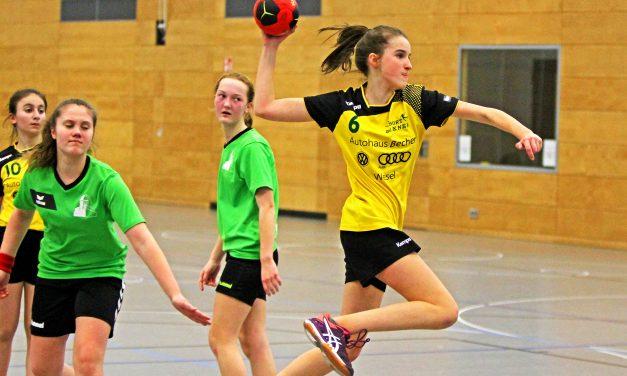 Schluss mit Lustig – Handballmädchen WK 3 unterliegen 12:22 ersatzgeschwächt bei Bezirksmeisterschaft in Duisburg