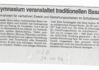 1996_11_27_NRZ_Weihnachtsbasar_Pressearchiv