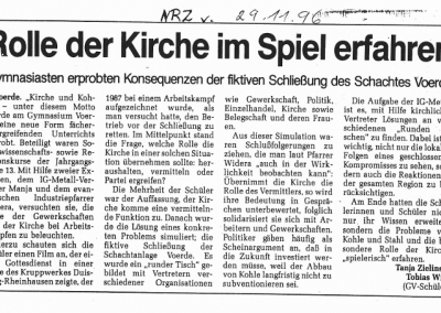 1996_11_29_NRZ_Kirche_und_Kohle_Pressearchiv