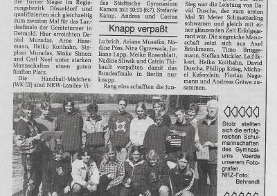 1997_04_25_NRZ_Erfolgreiche_Schulmannschaften_Pressearchiv