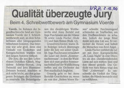 2000_12_02_NRZ_Schreibwettbewerb_Pressearchiv