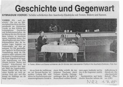 2005_07_01_NRZ_WIR_NACH_AUSCWITZ_PRESSEARCHIV