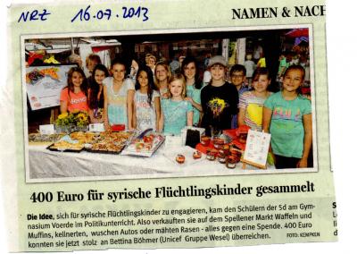 2013_07_16_NRZ_Spenden_Fluechtlingskinder