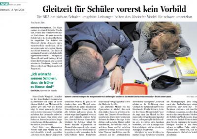 2016_04_13_NRZ_Gleitzeit_fuer_Schueler