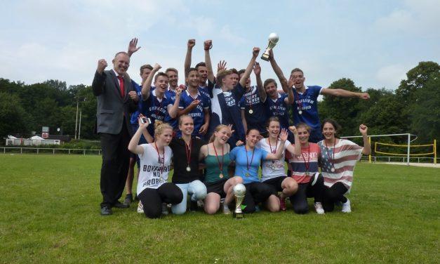 Wir sind DIN-O-Cup: Siegerpokal des DIN-O-Cup geht auch in diesem Jahr wieder nach Voerde
