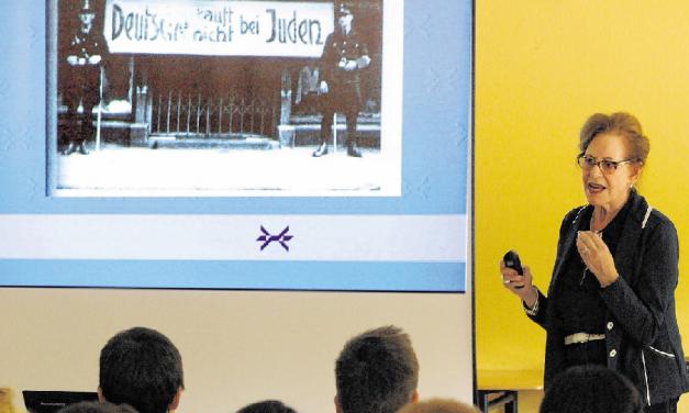 """Die Holocaust-Überlebende Eva Weyl schildert GV-Schülern eindringlich ihren """"Kampf gegen das Vergessen"""""""