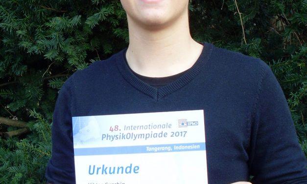 Viktor Guschin: Erfolg beim nationalen Auswahlwettbewerb zur 48. internationalen PhysikOlympiade