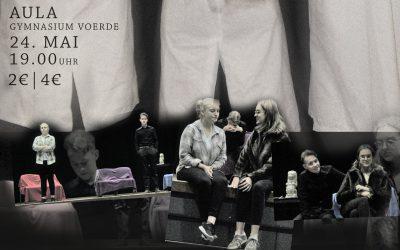 """Sartres """"Geschlossene Gesellschaft"""" als offenes Theatererlebnis – Eine Veranstaltung des Literaturkurs der Q1 (Freitag, 24.5.2019, 19 Uhr)"""