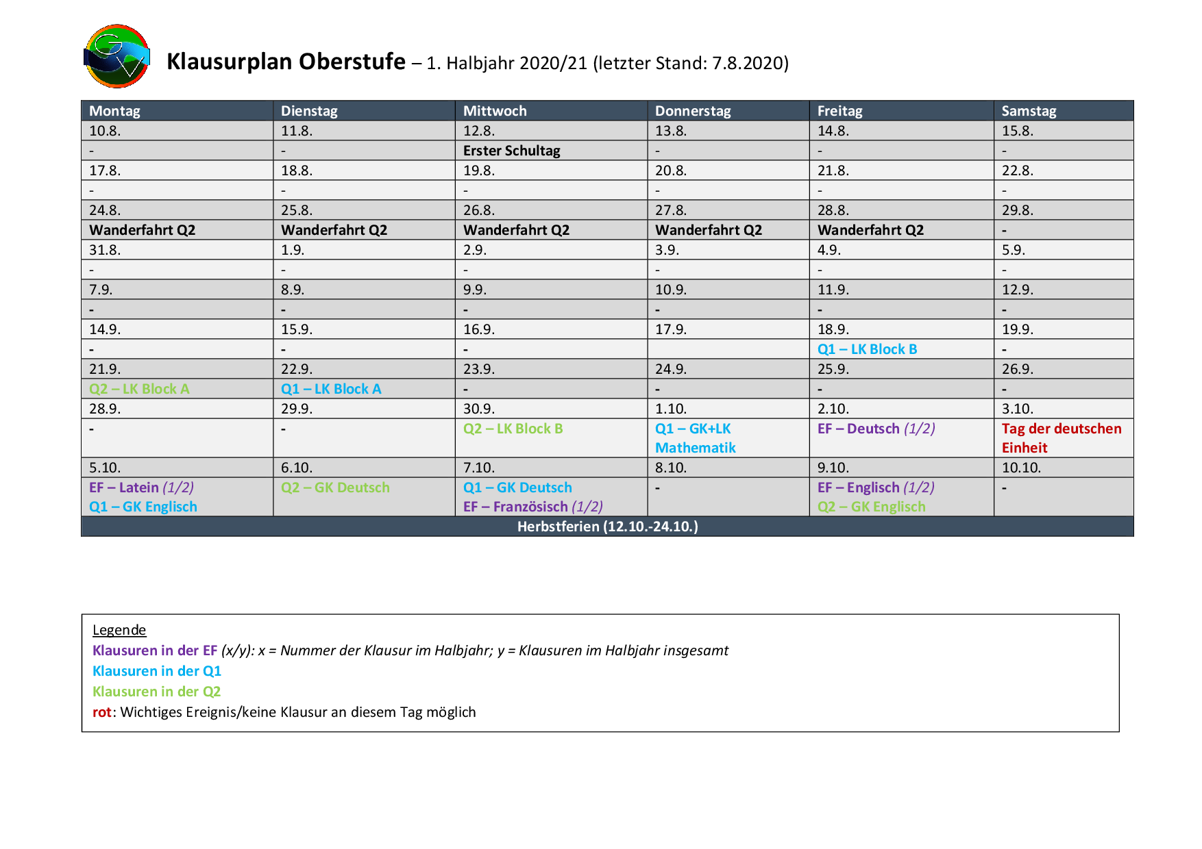 2020-08-07_Klausurplan-Oberstufe-1HJ-001