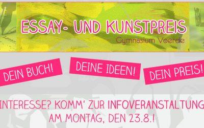 Essay- und Kunstpreis: Infoveranstaltungen am Montag, 23.8.2021