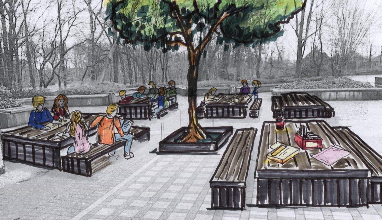 Neue Spielgeräte und Sitzgruppen für den Unterstufenschulhof